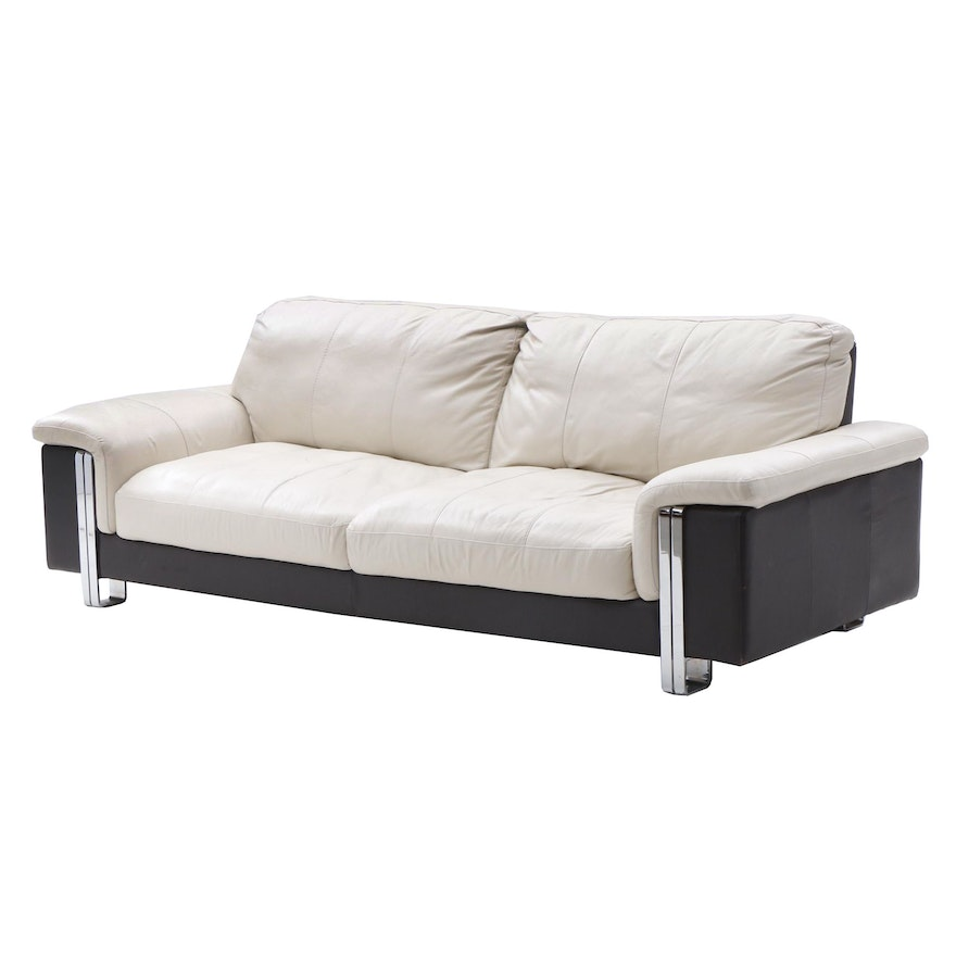 Terrific Soft Line Italian Leather Sofa Ebth Caraccident5 Cool Chair Designs And Ideas Caraccident5Info