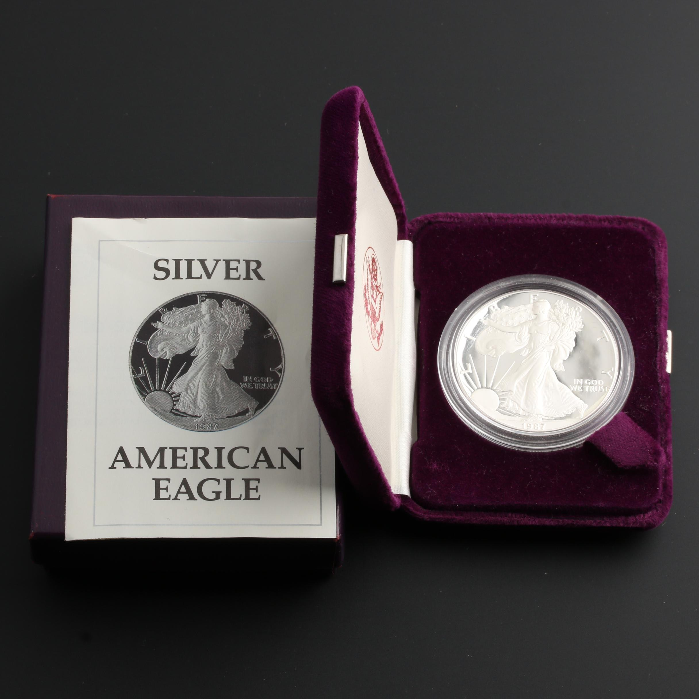 1987-S American Silver Eagle Proof Bullion Coin