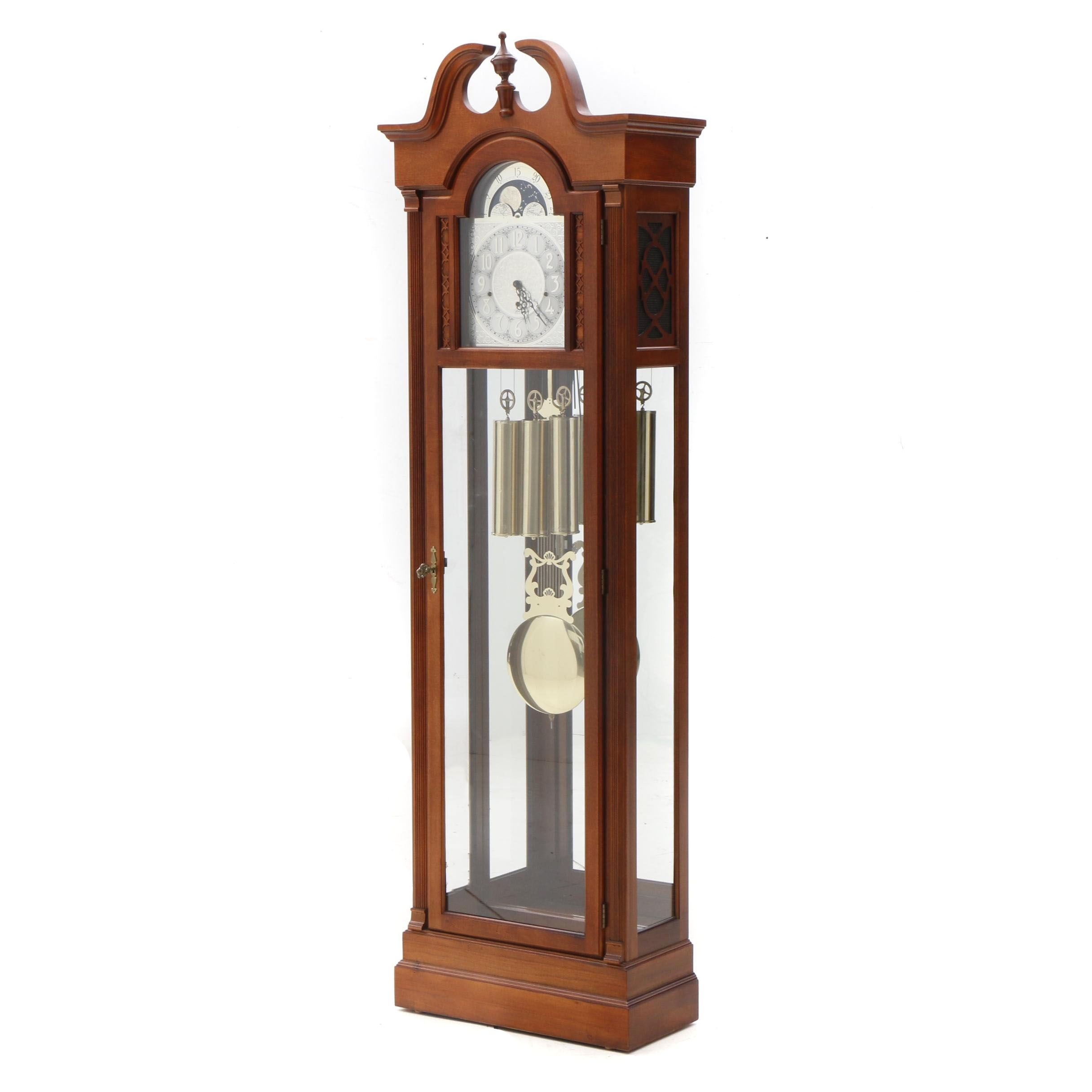 Federal Style Pulaski Grandfather Curio Hall Clock