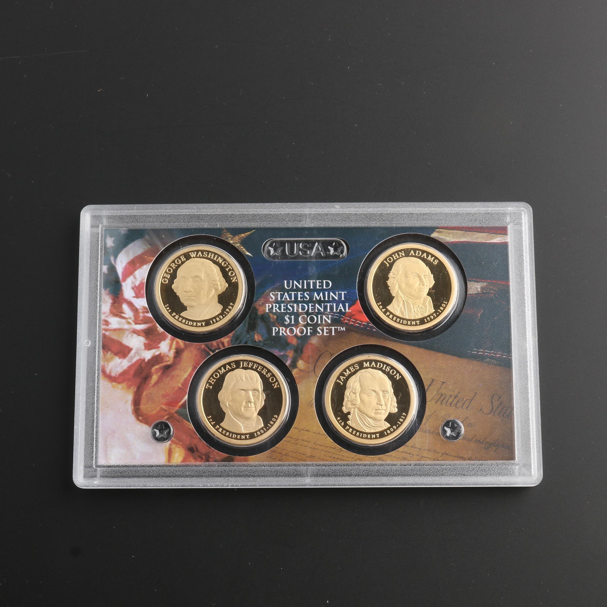 U.S. Mint 2007 Presidential Dollar Proof Set
