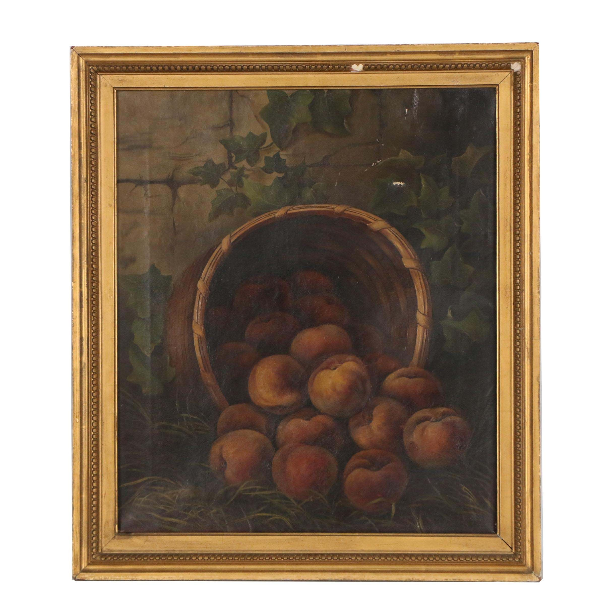 Late 19th Century Oil Painting of Fruit Still Life