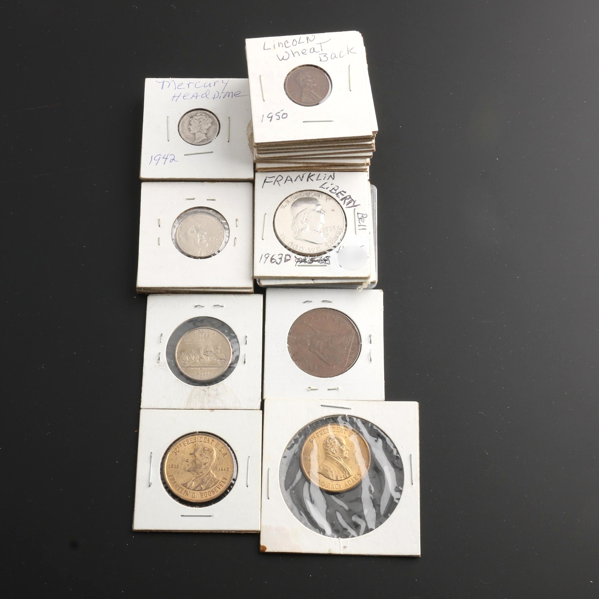 Group of Thirty Various U.S. Coins
