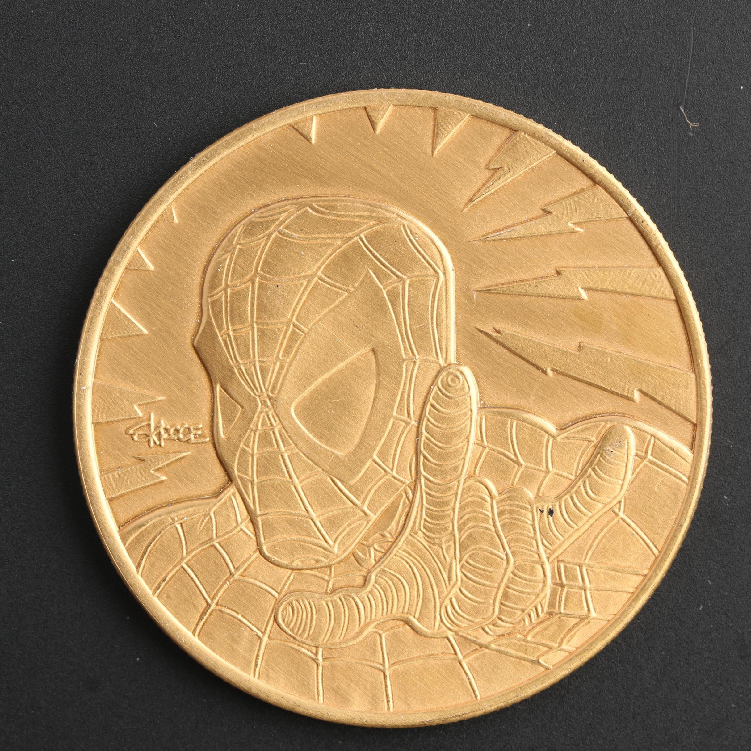 1996 Spider-Man Marvel Comics Highland Mint Bronze Medallion