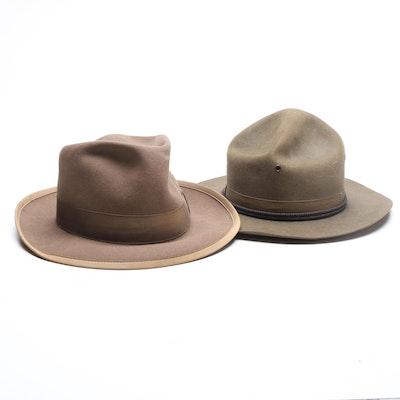 aec9c20737d7e Vintage John B Stetson and Saks Fifth Avenue Wool Felt Hats