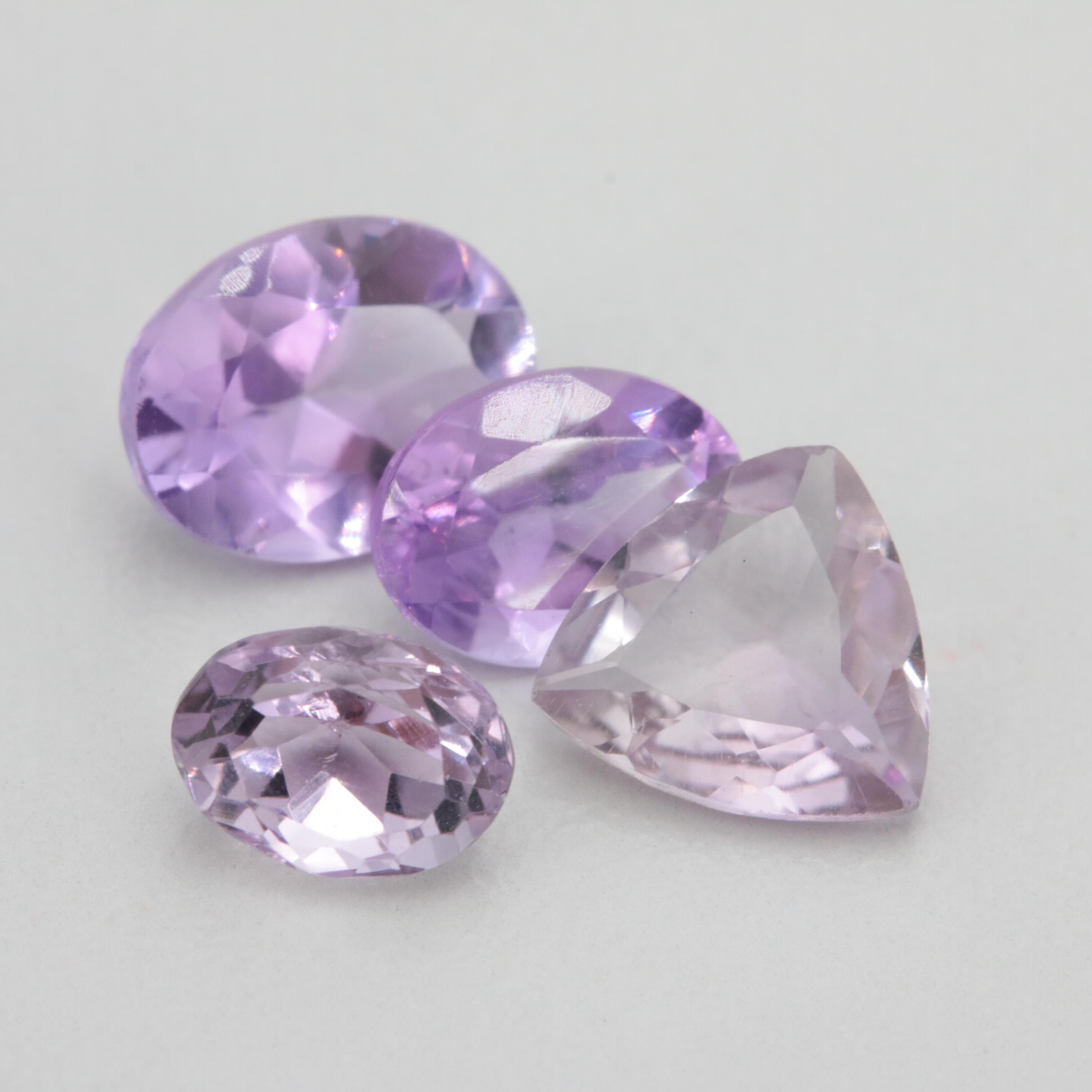 Loose 4.76 CTW Amethyst Gemstones