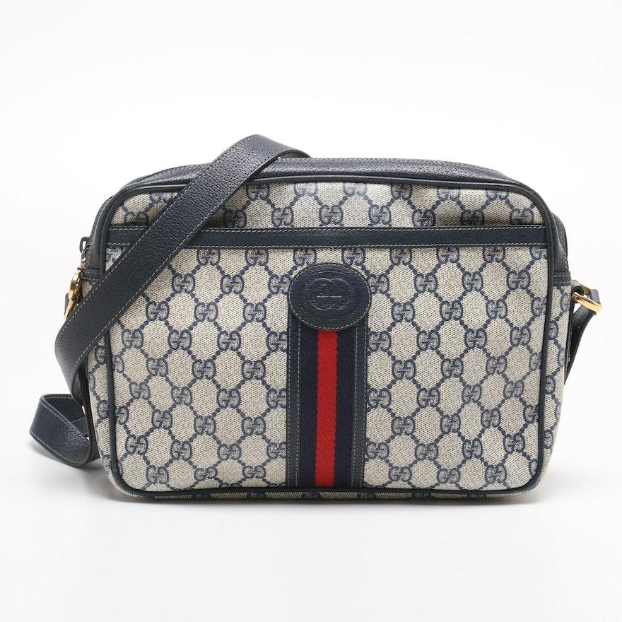 2dc38a111ee Vintage Gucci GG Supreme Cavas Shoulder Bag   EBTH