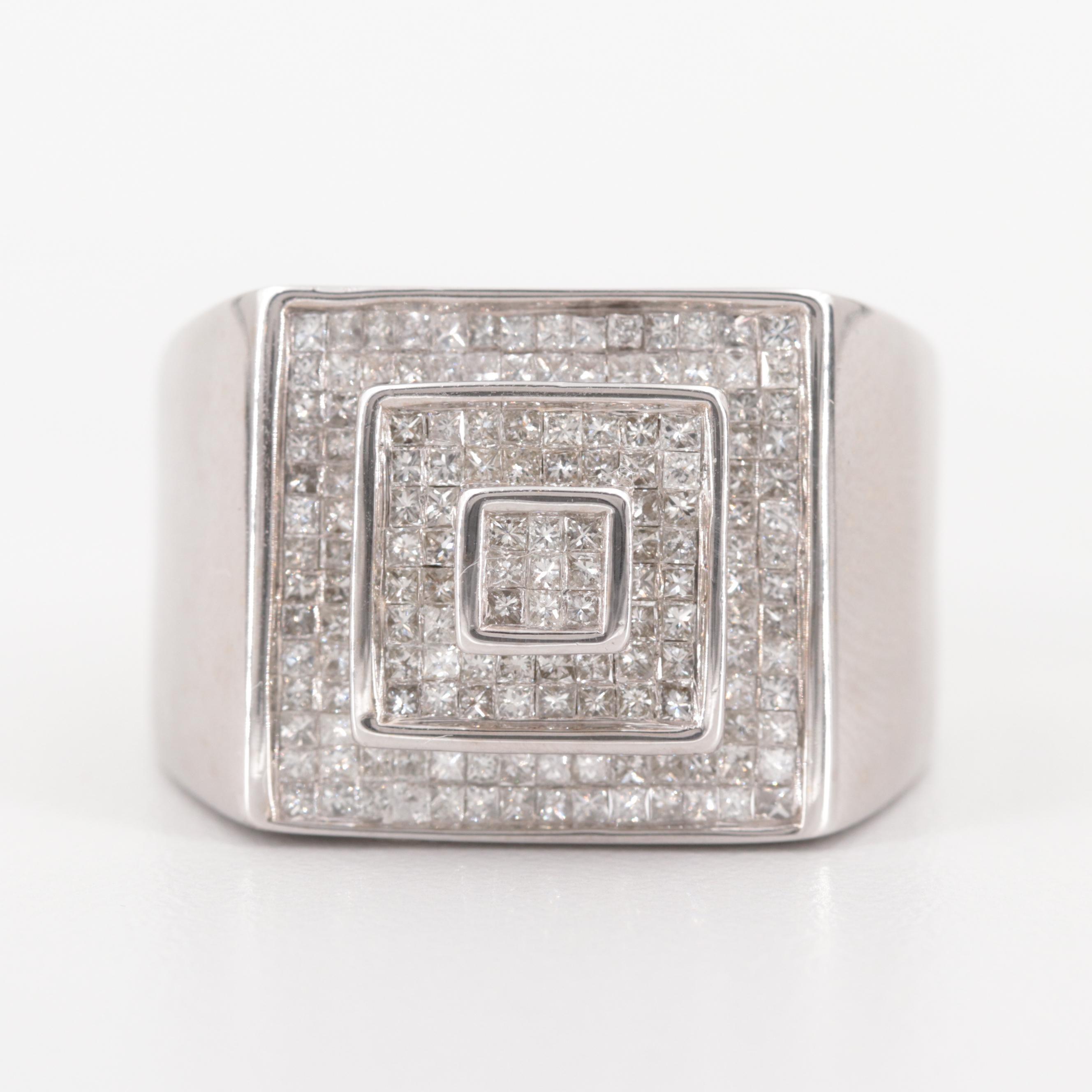 14K White Gold 2.54 CTW Diamond Ring