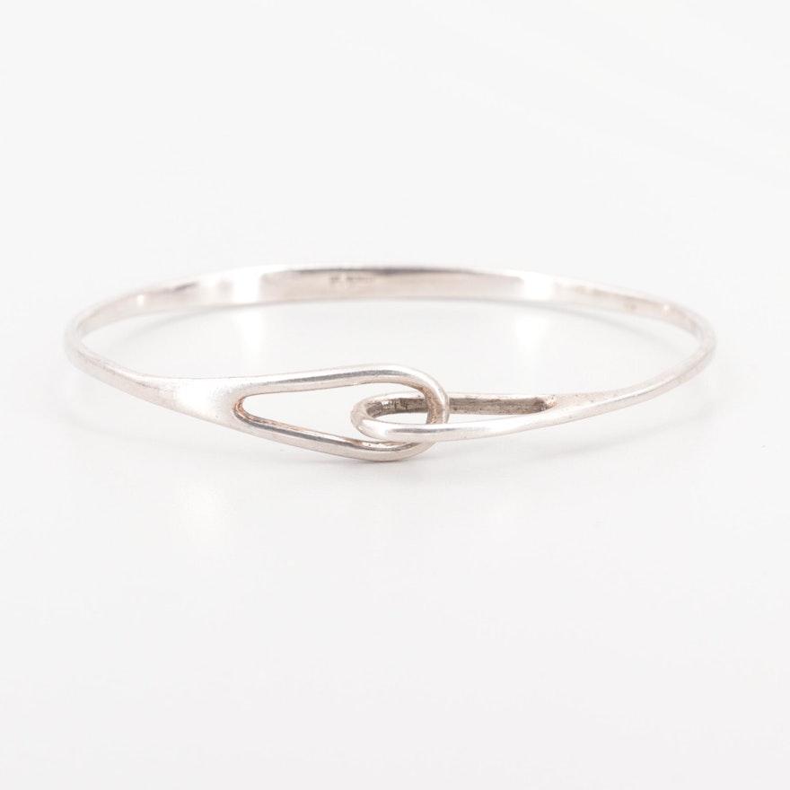 94586f343 Vintage Tiffany & Co. Sterling Silver Interlocking Double Loop Bangle  Bracelet ...