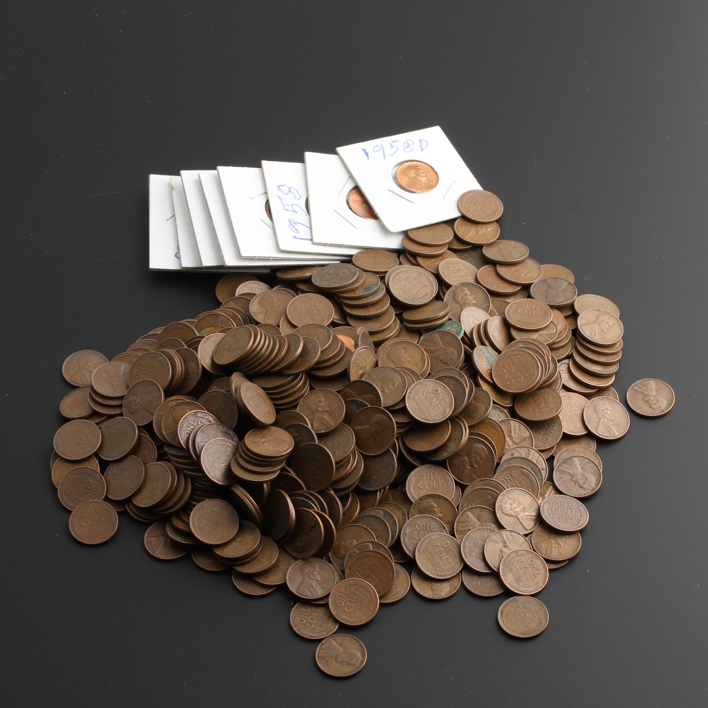 Group of Approximately 570 Lincoln Wheat Cents