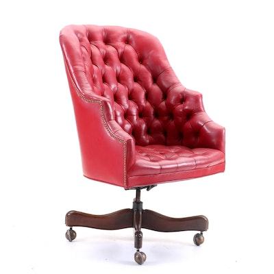Leather Barrel Chair by Natuzzi : EBTH