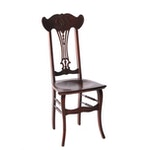 Chippendale Style Mahogany Finished Side Chair, 20th Century