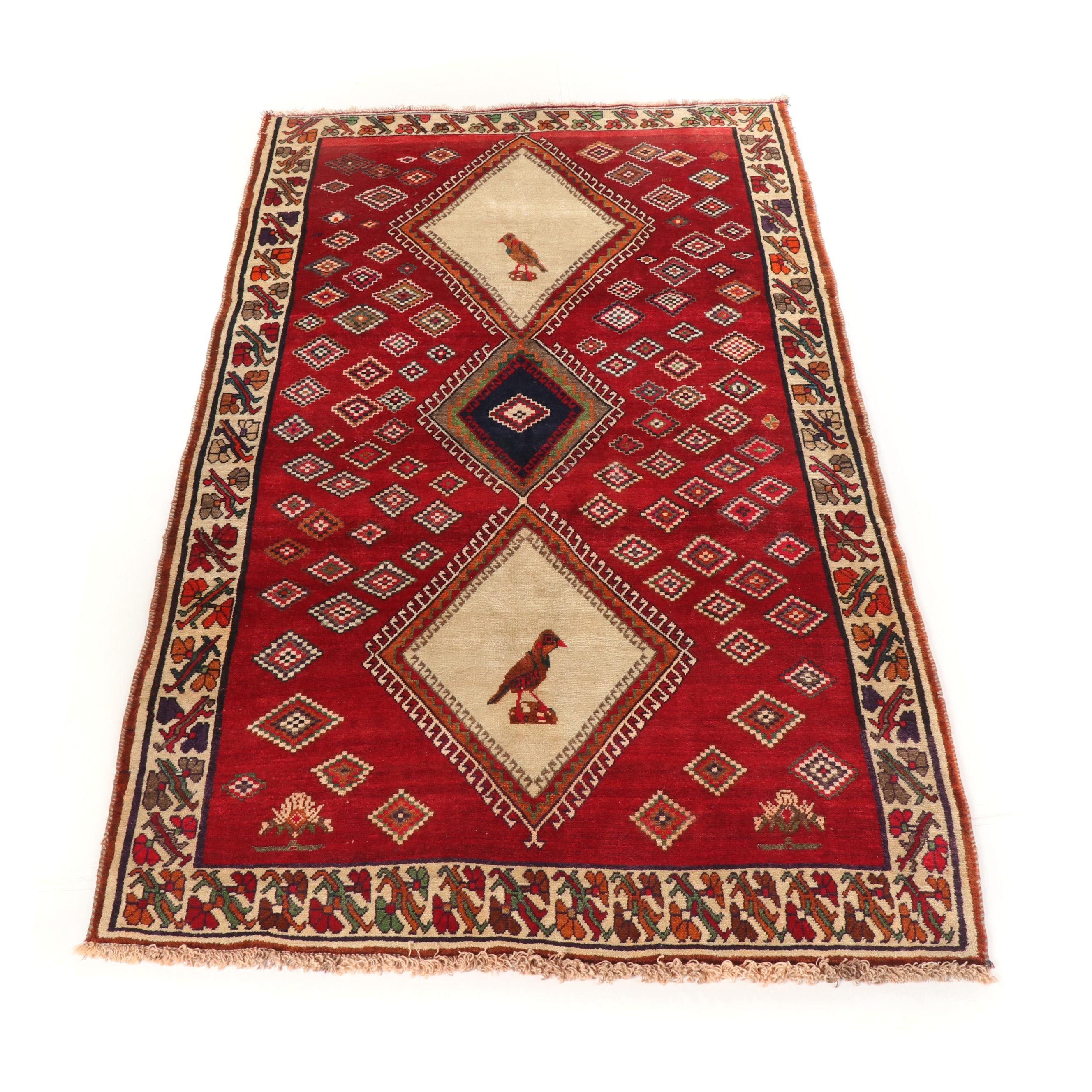 Hand Knotted Persian Gabbeh Qashqai Wool Rug Ebth