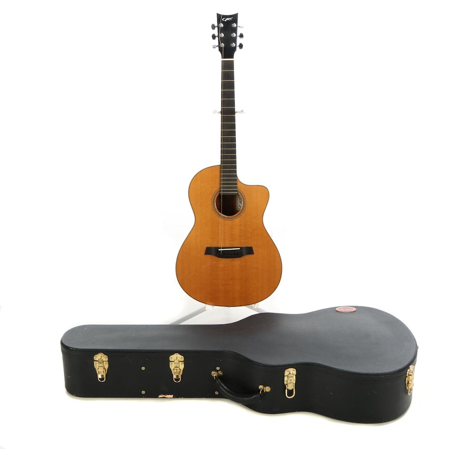 f2a1848eb24 Charles Fox H-Napa Acoustic Guitar with Ameritage Case : EBTH