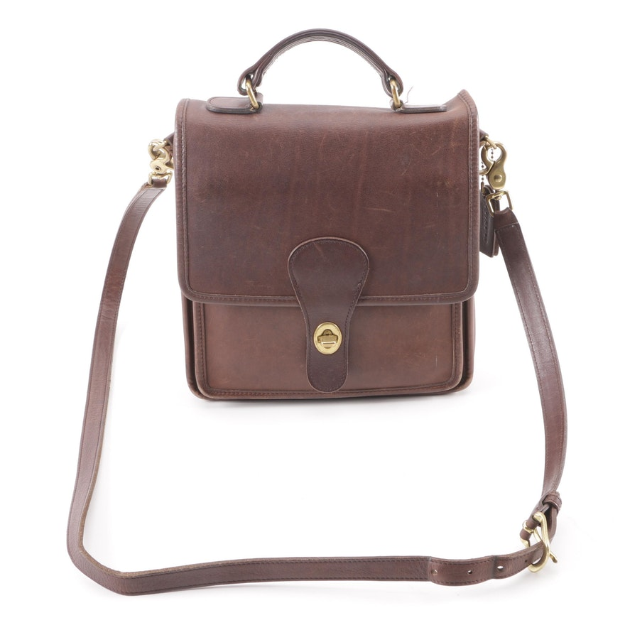 9c939c2c6c64 1998 Vintage Coach Brown Leather Station Bag   EBTH
