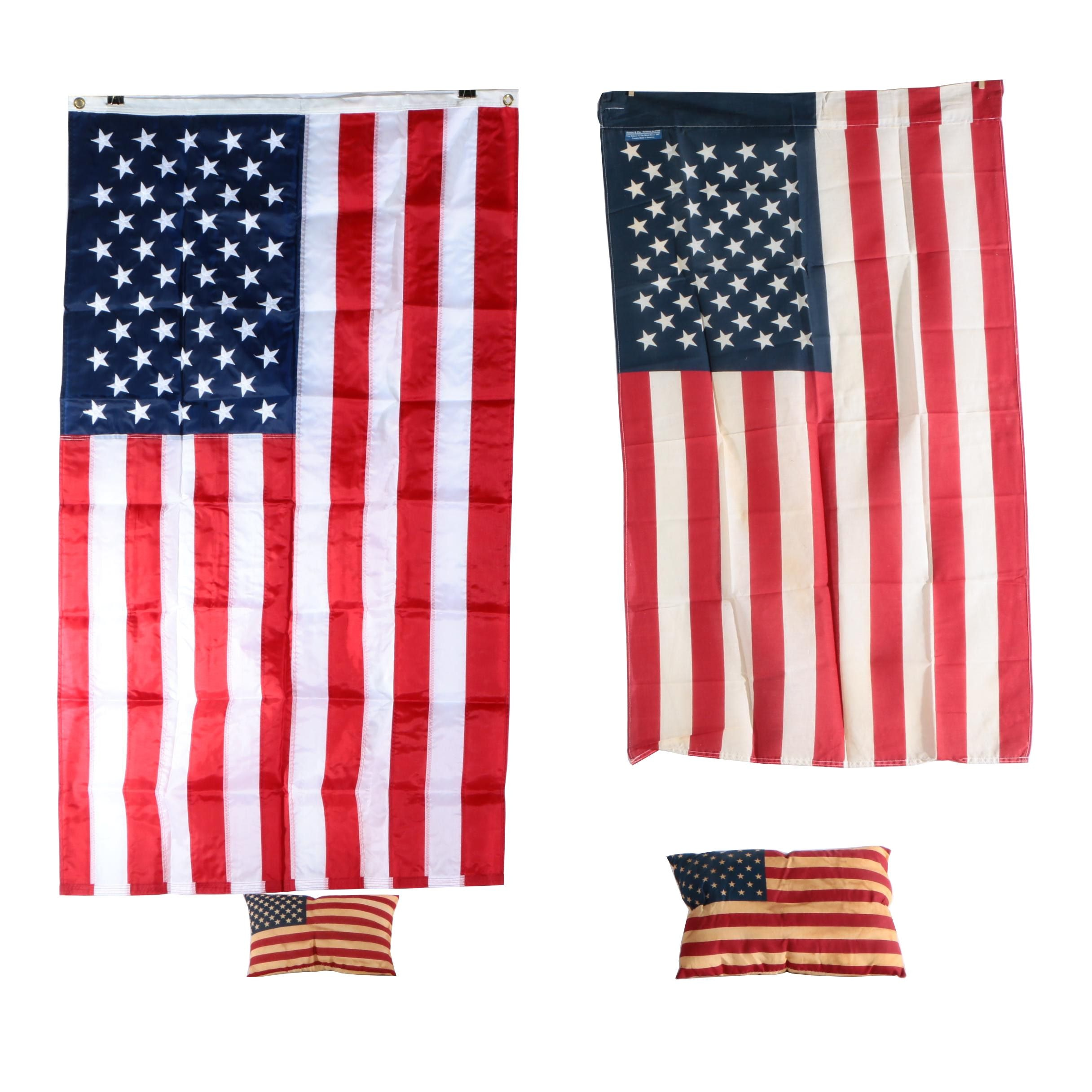 American Flags and Pillows