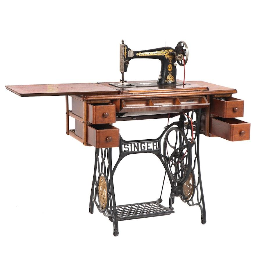 Singer Treadle Sewing Machine, 1929