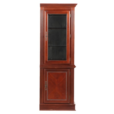 Cherrywood Laminate Illuminated Display Cabinet, Late 20th Century - Online Furniture Auctions Vintage Furniture Auction Antique