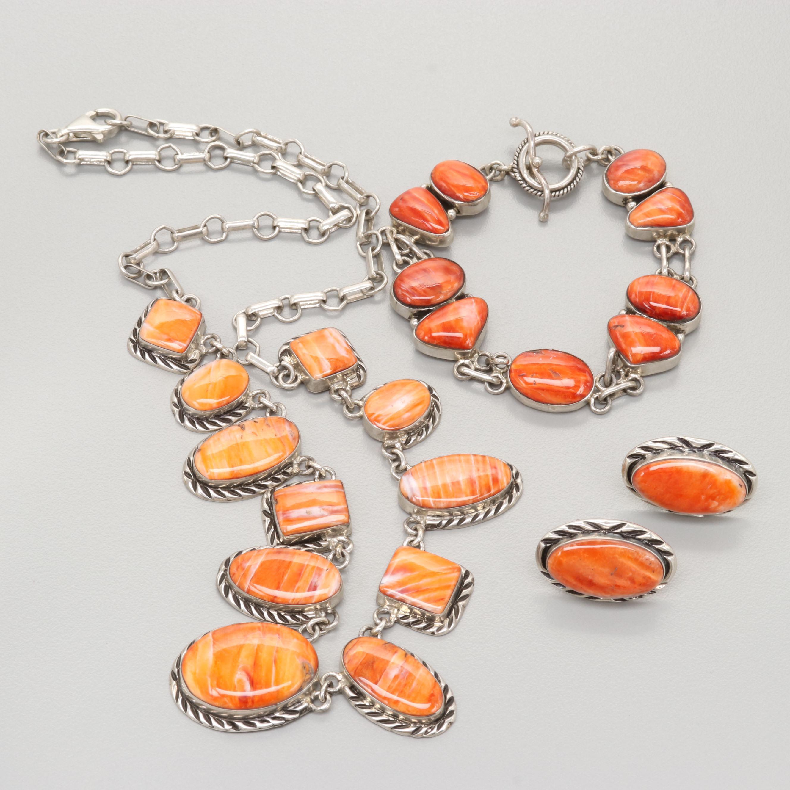 Bracelet Set Spiny Oyster Necklace
