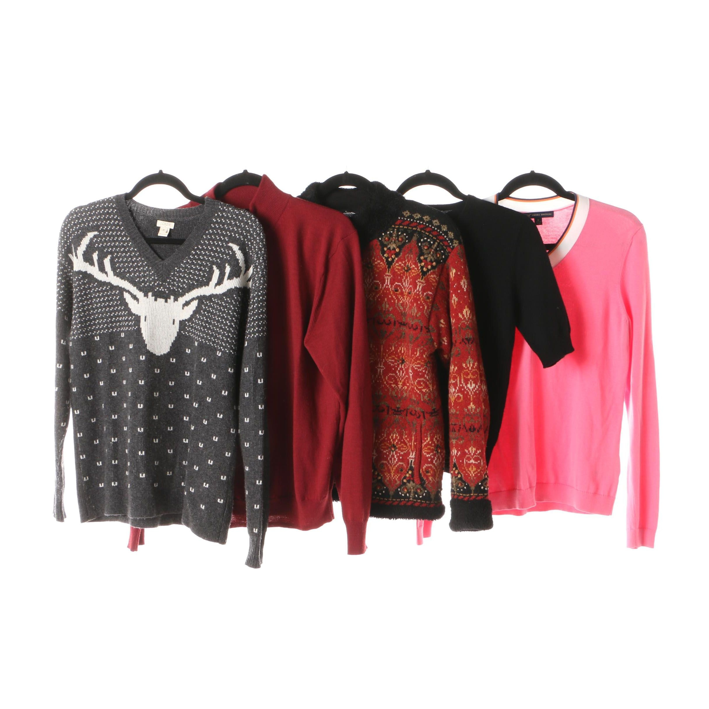 Womens Cashmere And Rayon Blend Sweaters Including Lord Taylor Ebth