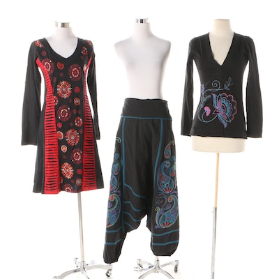 bb6a1ed18f Aller Simplement Cotton Embroidered Skirt, Shirt, and Dress