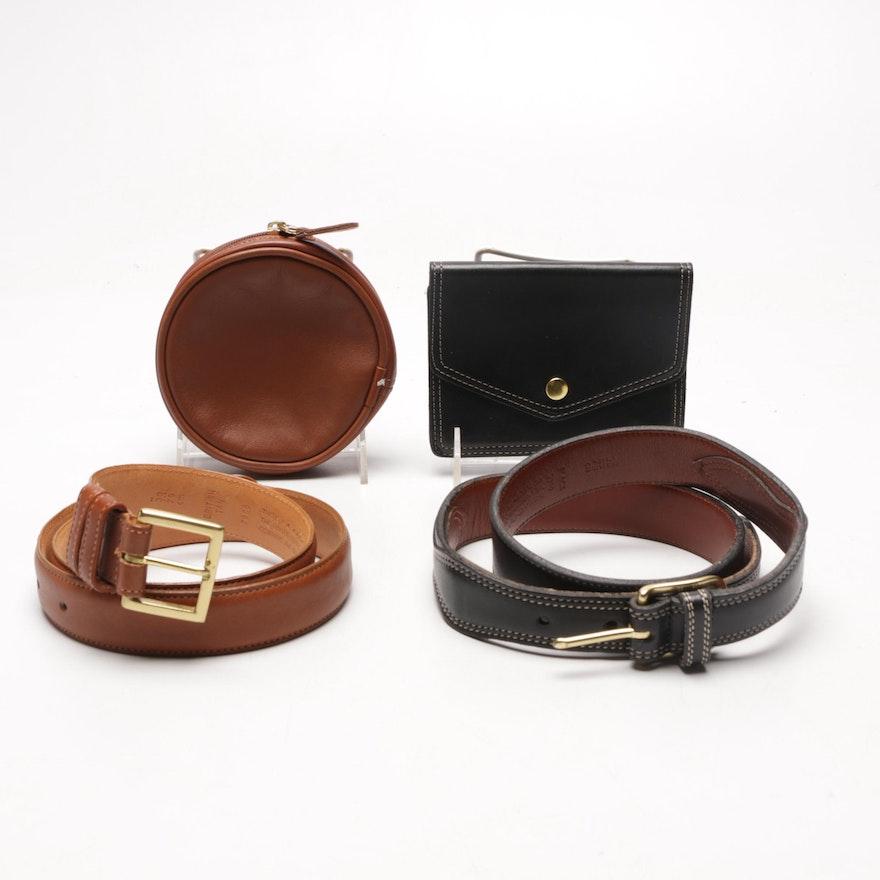 e06d077f50a7 Coach British Tan Belt Pouch and Black Belt Wallet   EBTH