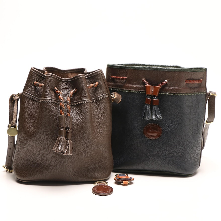 29ac4f3026a Dooney   Bourke Teton All Weather Leather Bucket Bags and Keychains ...