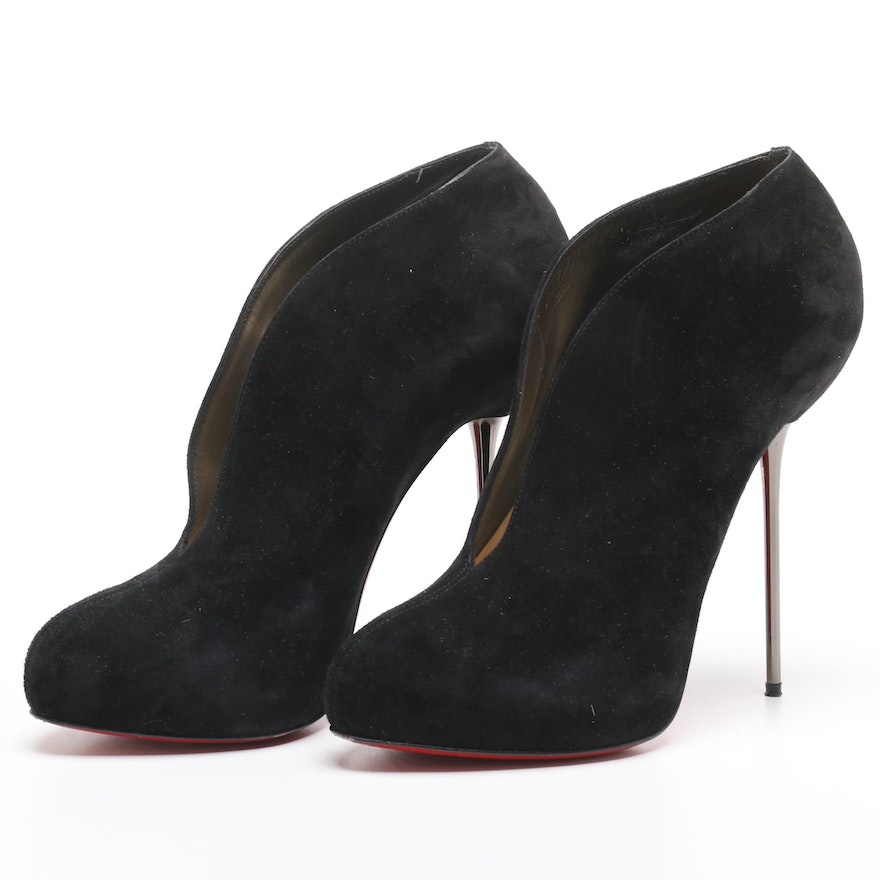 the latest 1979f 8d2db Christian Louboutin Fastissima 120 Black Suede Heels