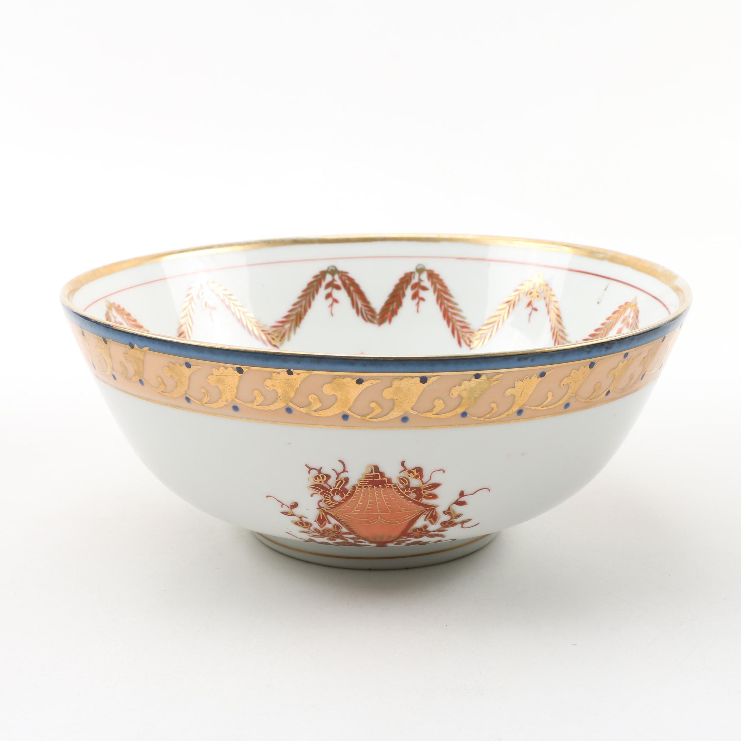 Hand Painted Foliate Bowl