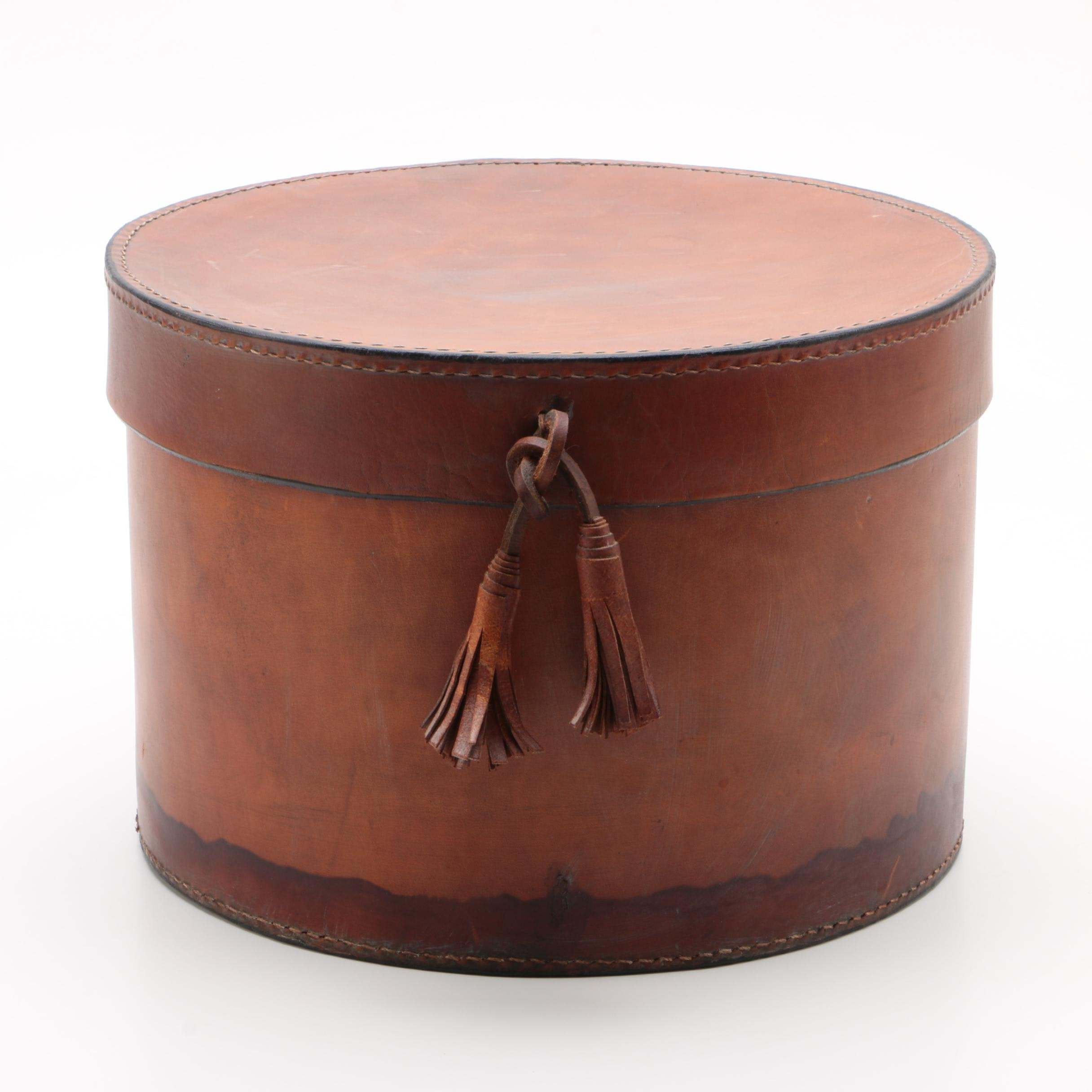 Leather Hat Box