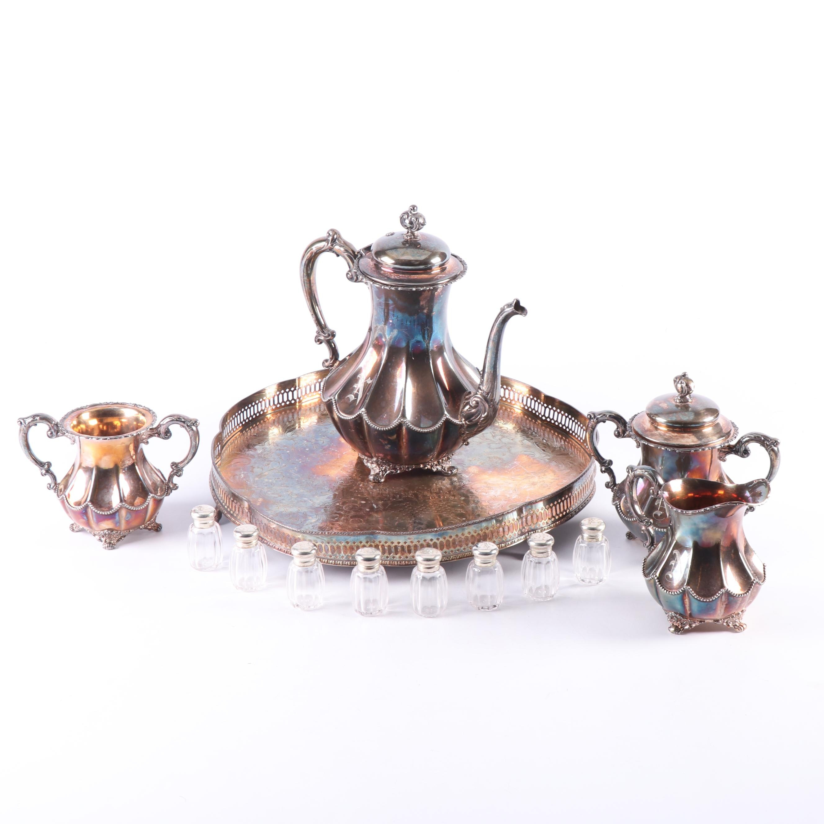 Homan Mfg. Co. Silver Plate Coffee Service Set, Early 20th Century