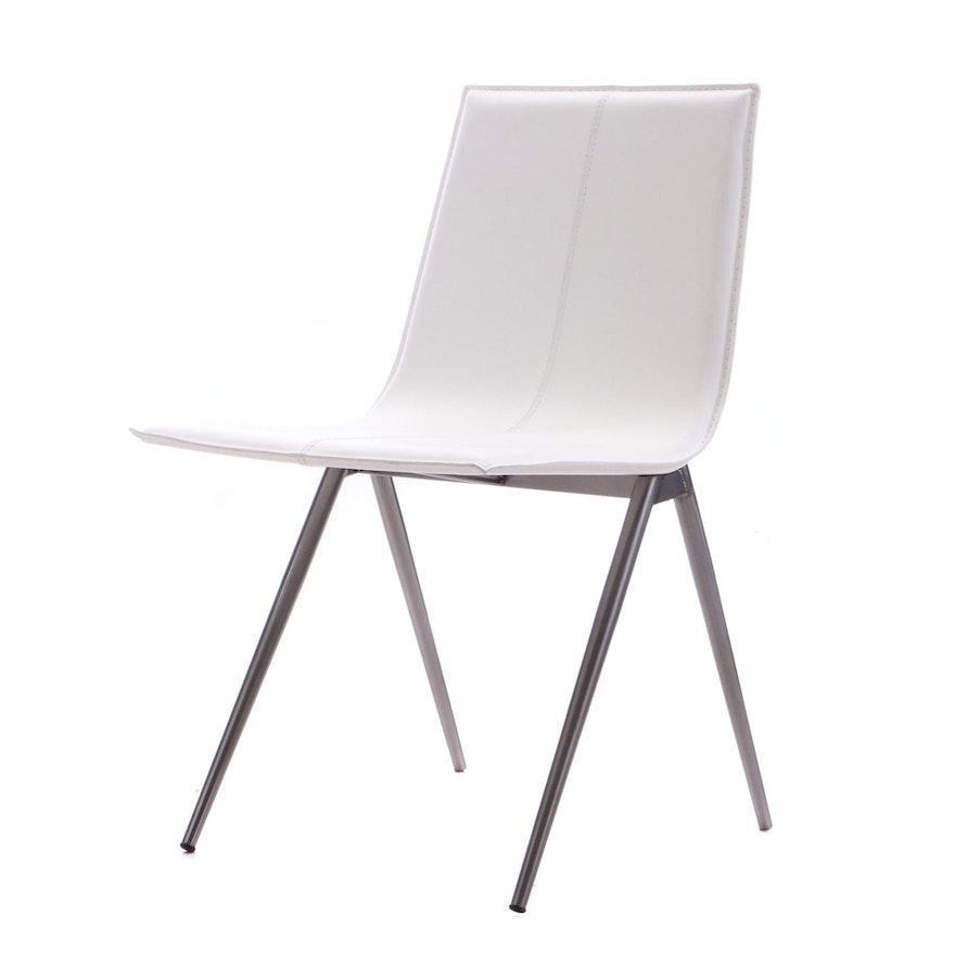 Groovy Modloft Mayfair Dining Chair In Bright White Ebth Creativecarmelina Interior Chair Design Creativecarmelinacom