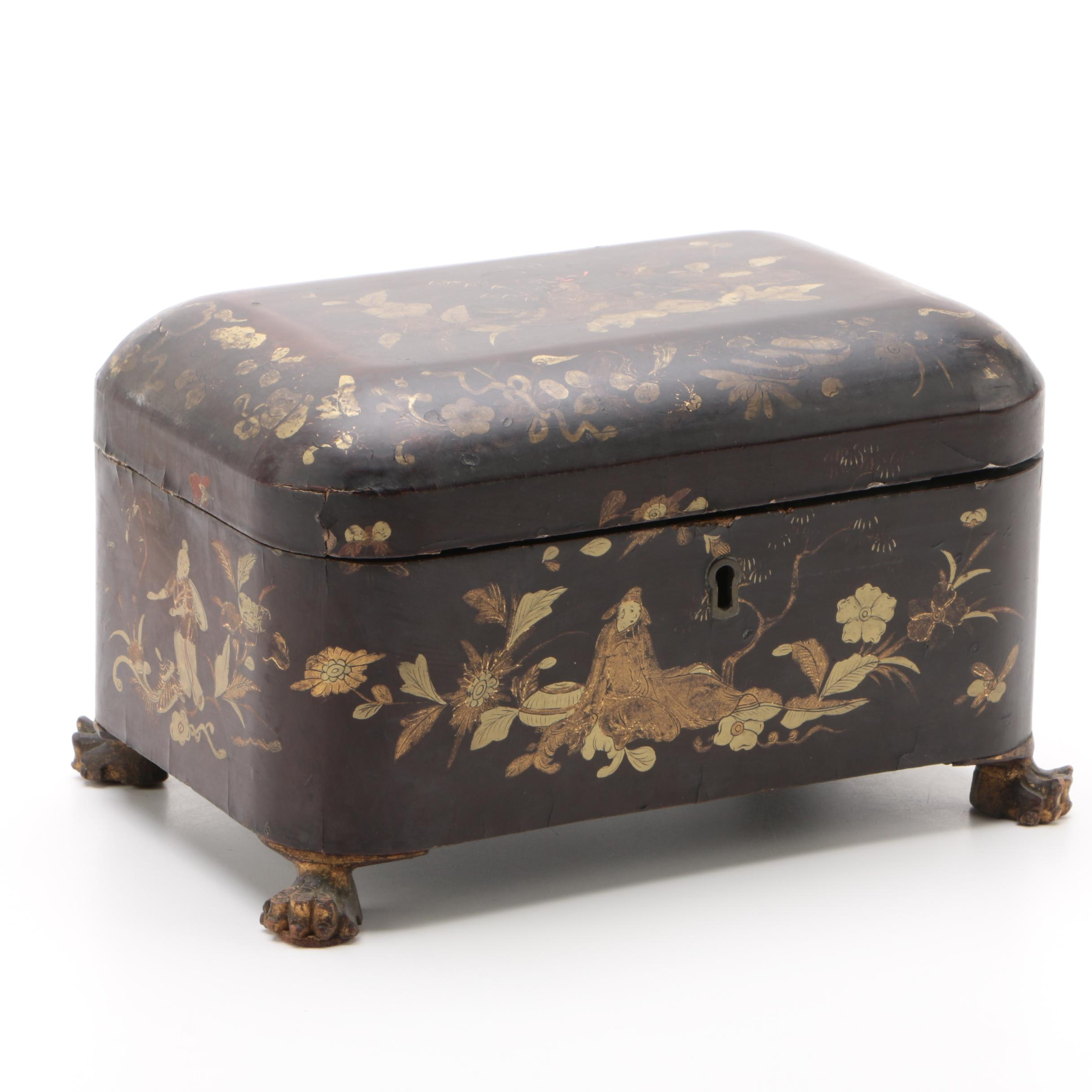 Chinese Lacquer Tea Caddy, Late 19th/Early 20th Century