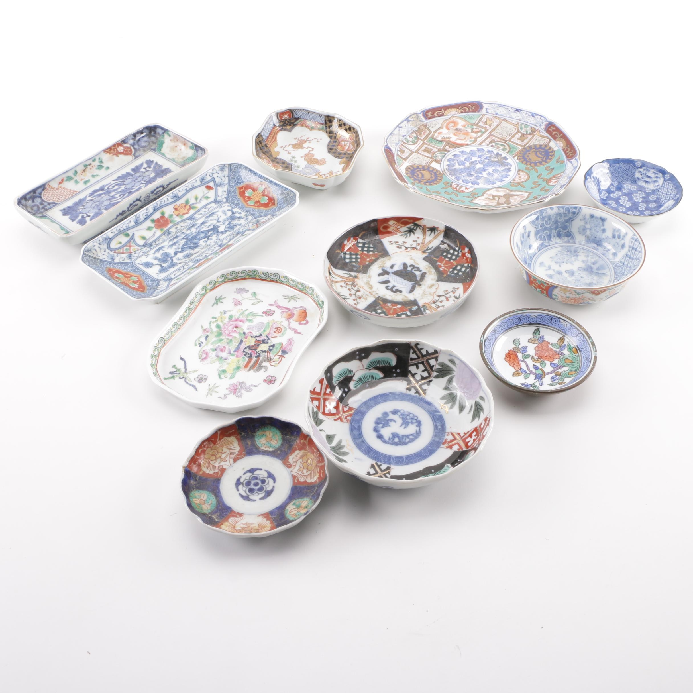 Chinese and Japanese Porcelain Dishes and Plate