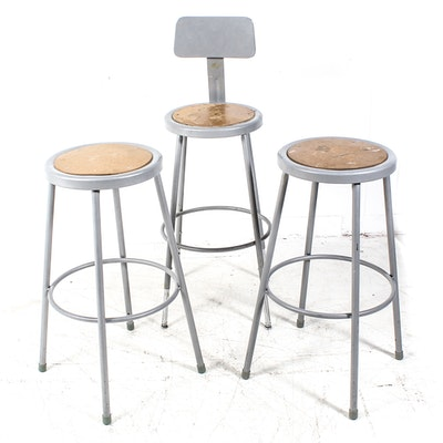 Incredible Three Frontgate Manchester Swivel Bar Stools Ebth Pdpeps Interior Chair Design Pdpepsorg