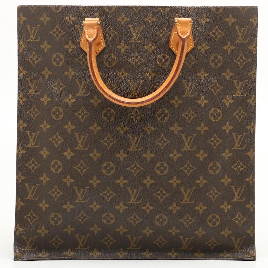1b9fad59b3b6 1990 Vintage Louis Vuitton Monogram Canvas Sac Plat Tote   EBTH