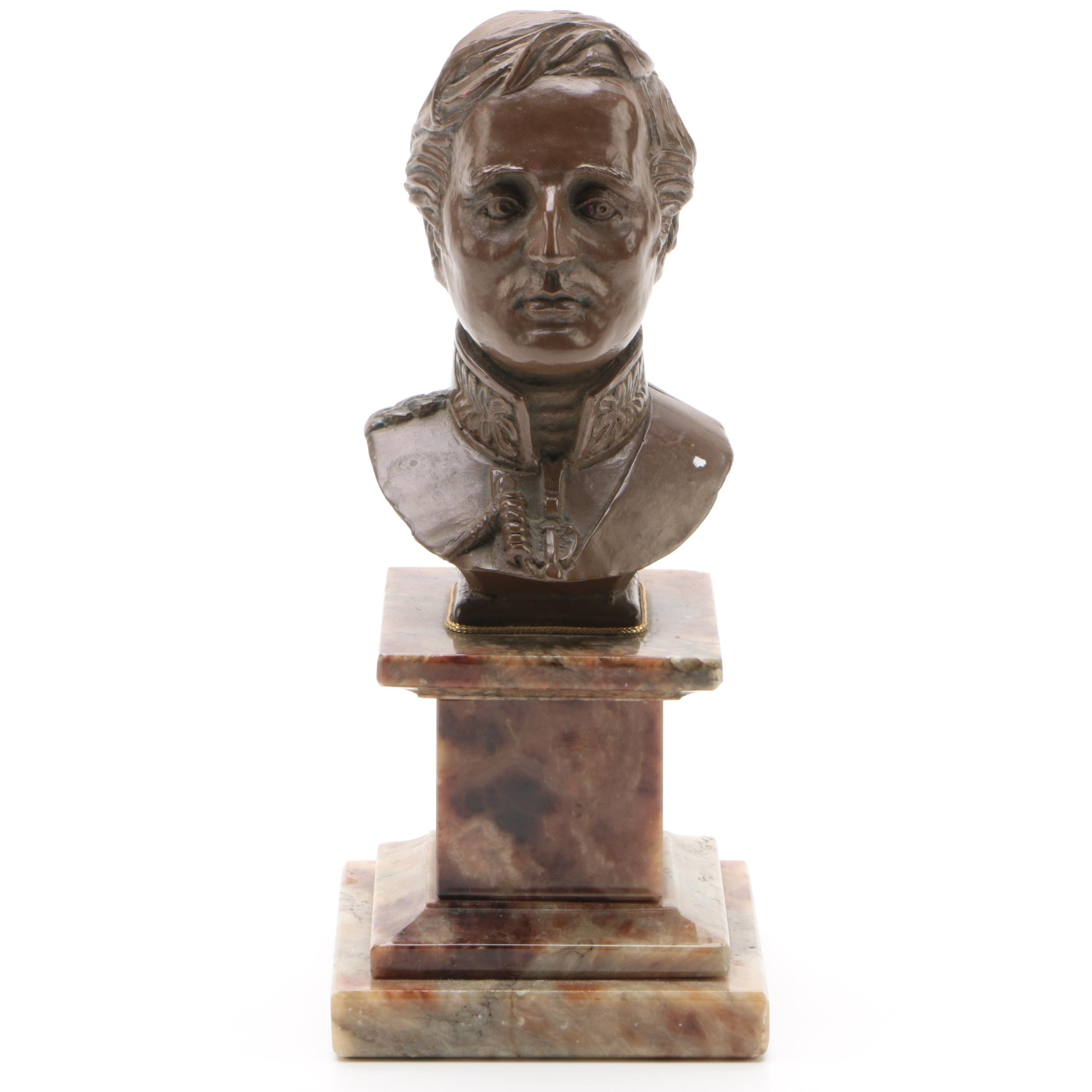 Resin and Composite Bust of Military Man