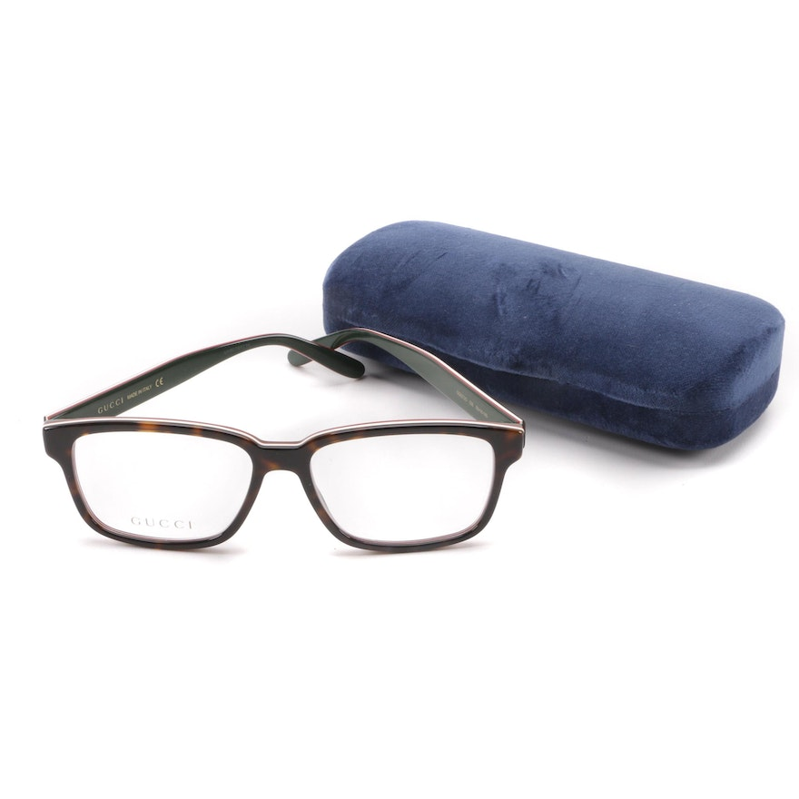 5dc3267ecb3 Gucci GG0272O Tortoiseshell Style Eyeglasses with Case