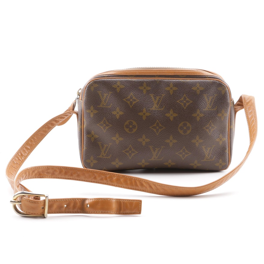 84d435fd6b2f Vintage The French Company for Louis Vuitton Monogram Canvas Crossbody Bag  ...