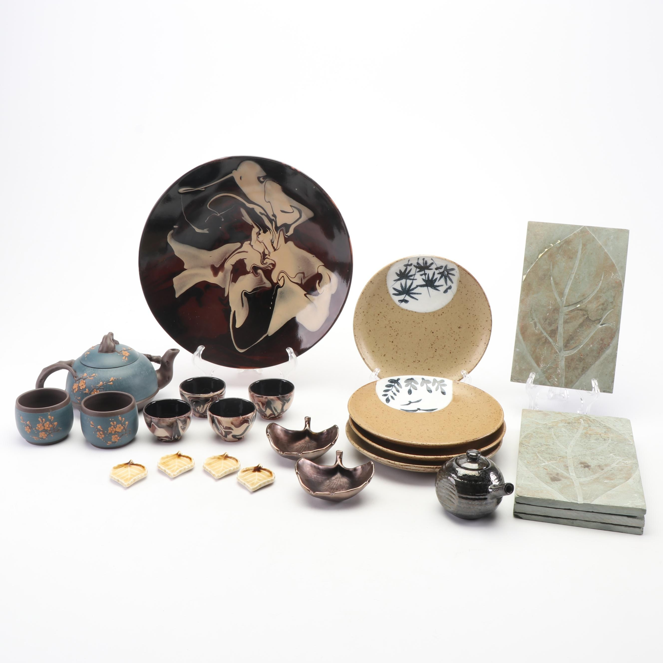 Teavana Yixing Teapot and Assorted Ceramic Dinnerware featuring Vietri