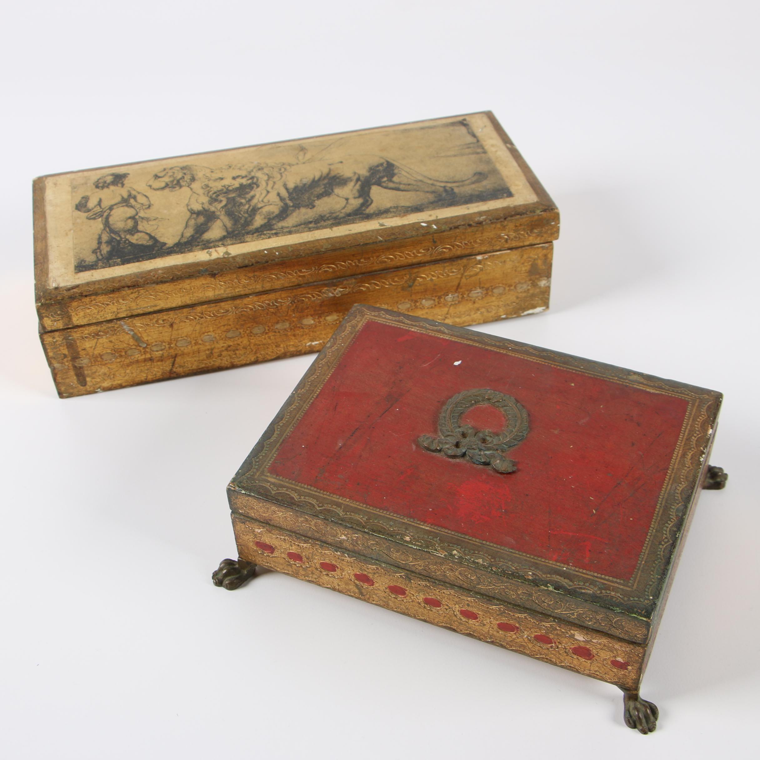 Florentia Italian Decorative Wooden Boxes