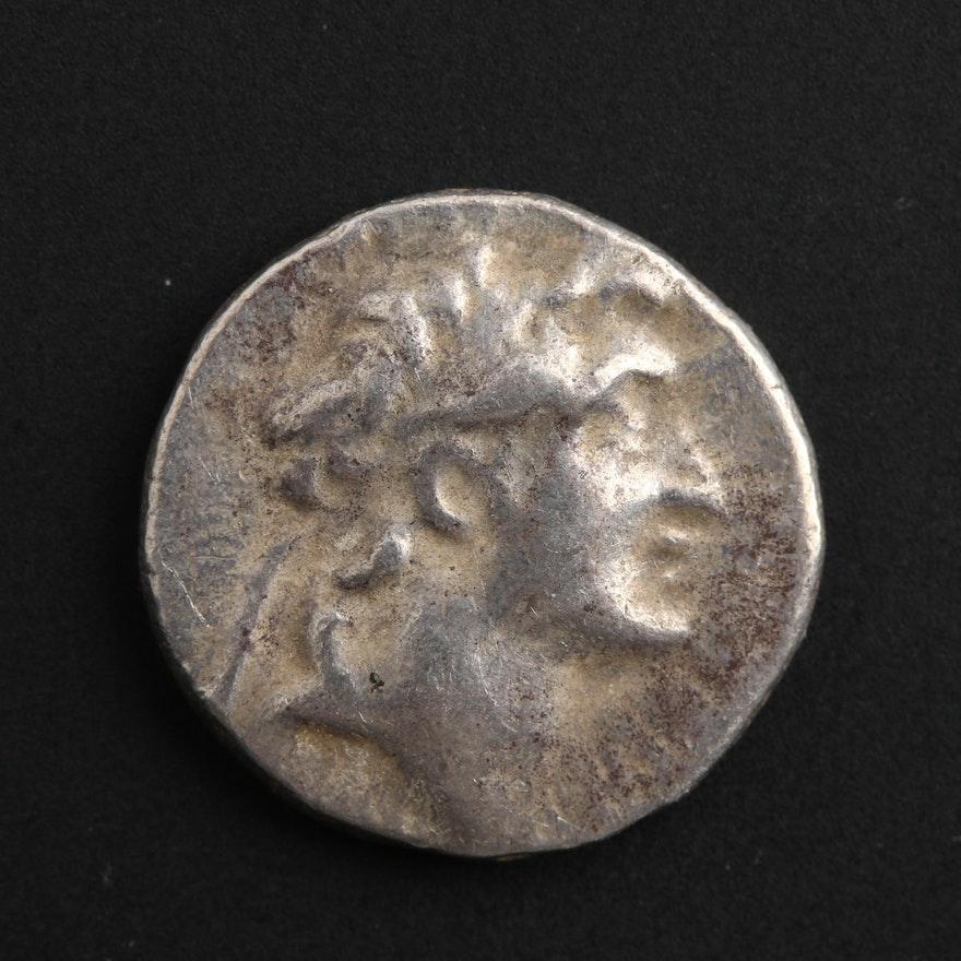 Ancient AR Drachm of Ariarathes V, Cappadocia, ca. 163 B.C.