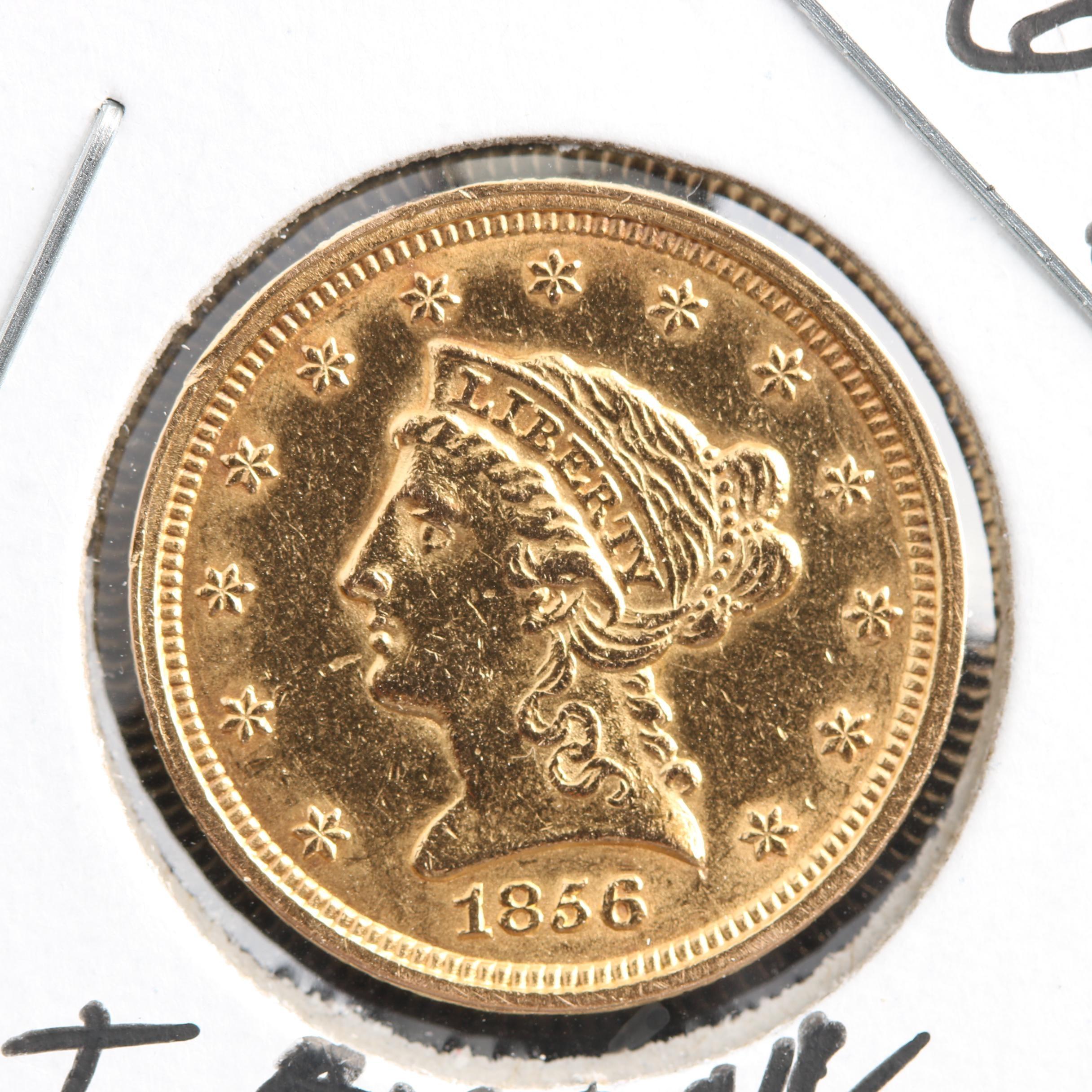1856 Liberty Head $2.50 Gold Quarter Eagle