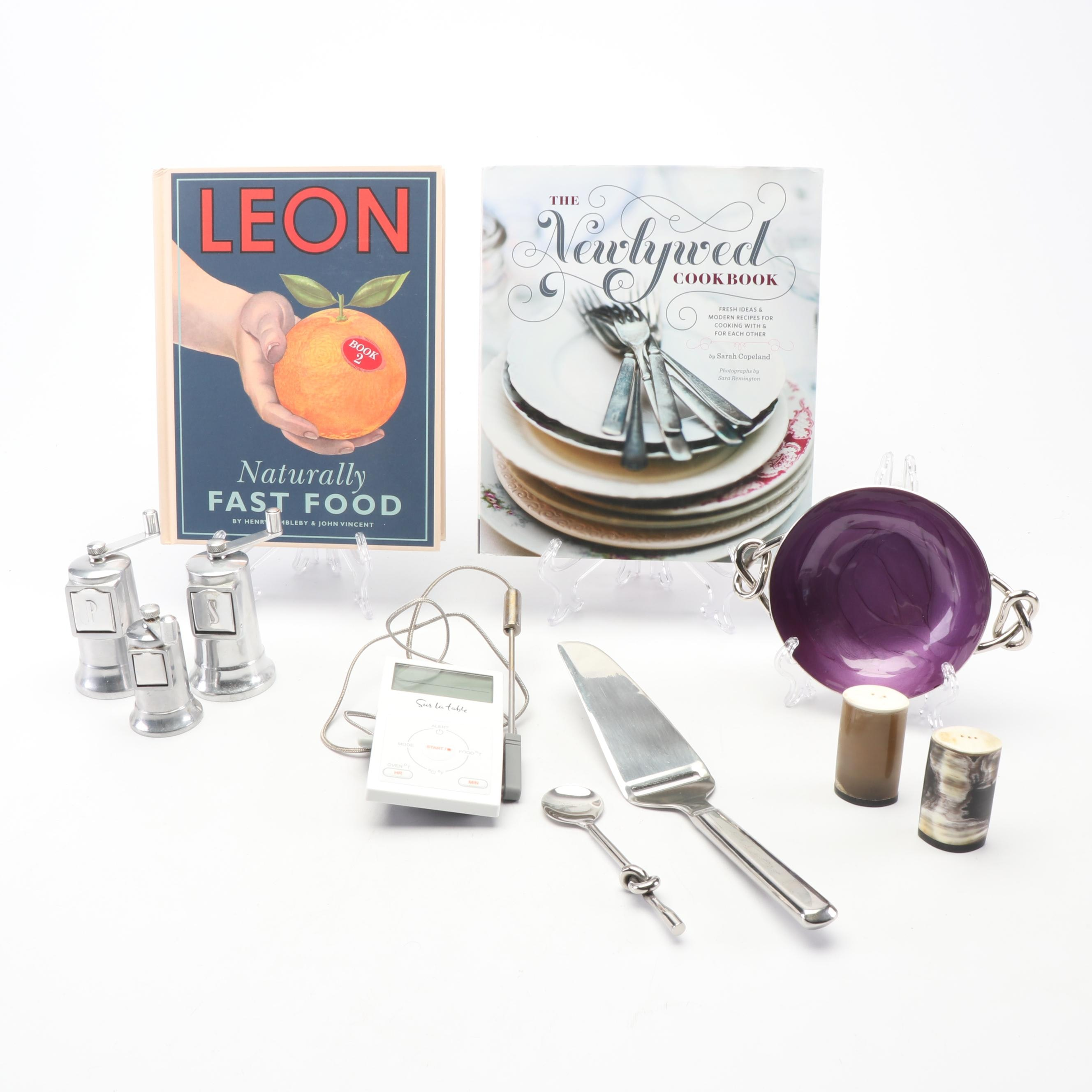Perfex Salt and Pepper Mills, Inspired Generations Tableware, Cookbooks and More