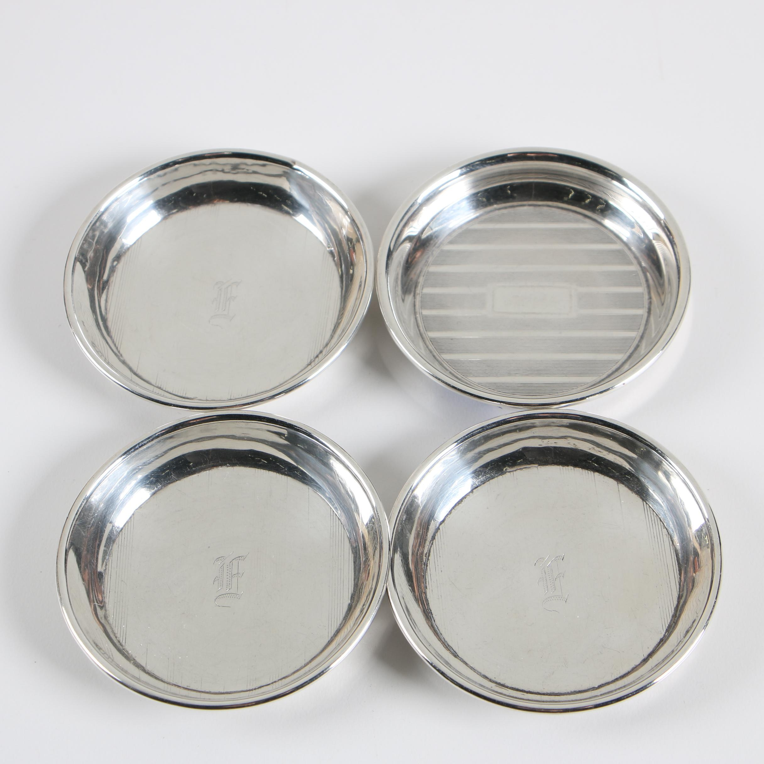 Webster Co. Sterling Silver Nut Dish with Other Sterling Nut Dishes, Mid-Century
