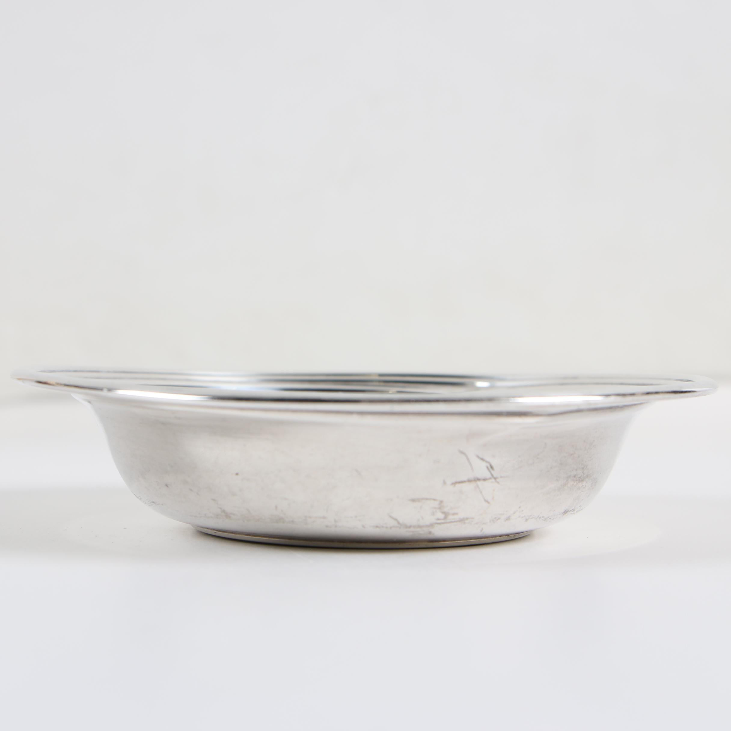 Randahl Sterling Silver Bon Bon Bowl Retailed by Charles S. Stifft, Mid-Century