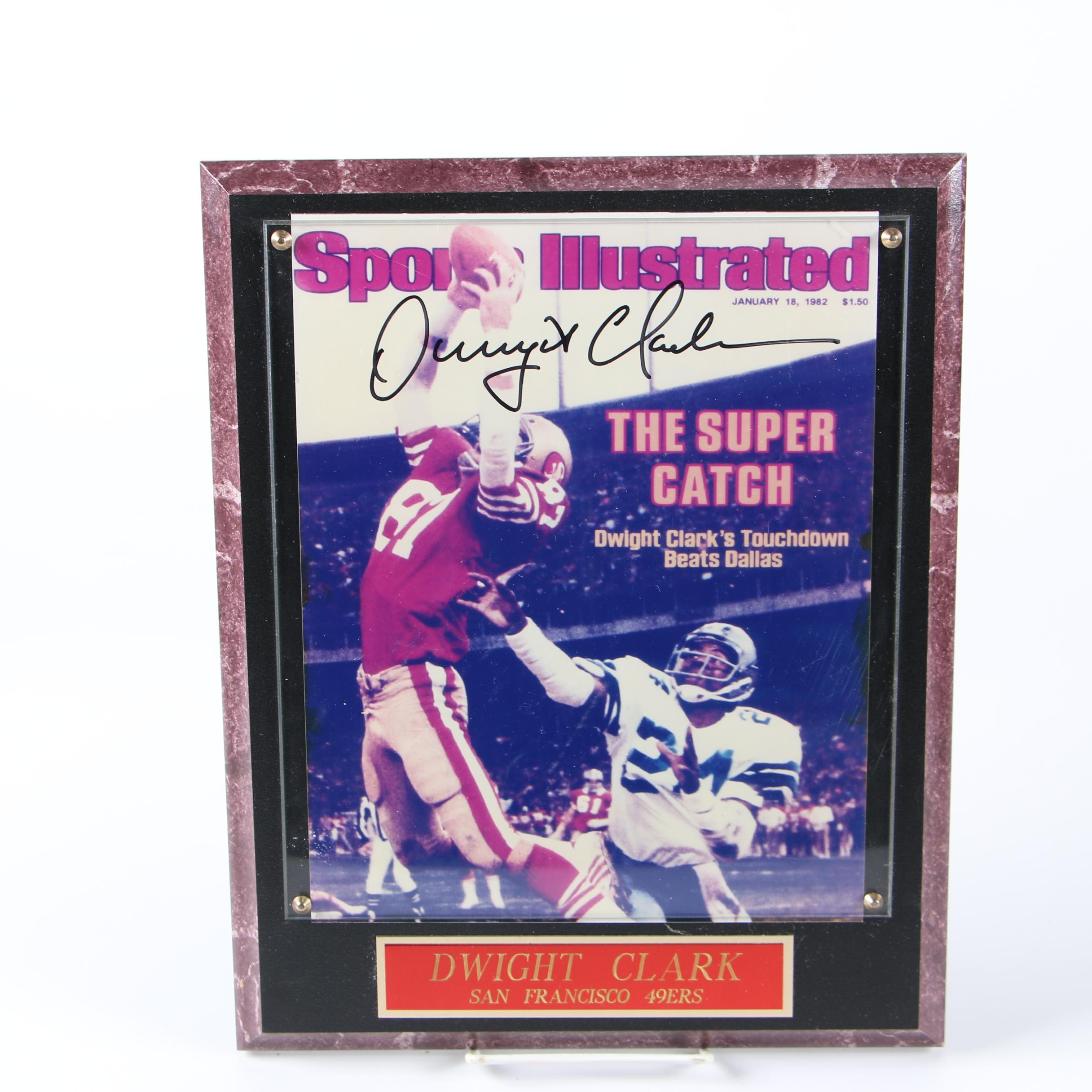"""Dwight Clark Autographed """"Sports Illustrated"""" Cover, 1982"""