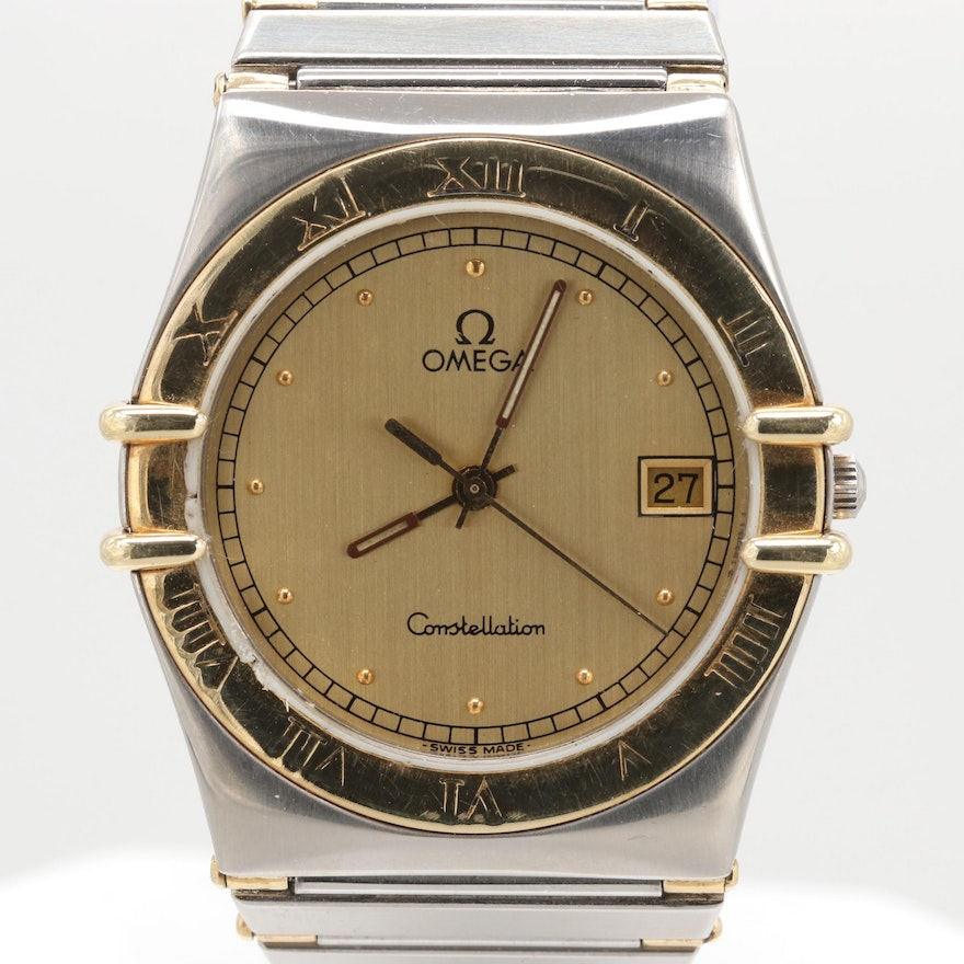5e58b3a91ac Omega Constellation Stainless Steel and 18K Yellow Gold Wristwatch   EBTH