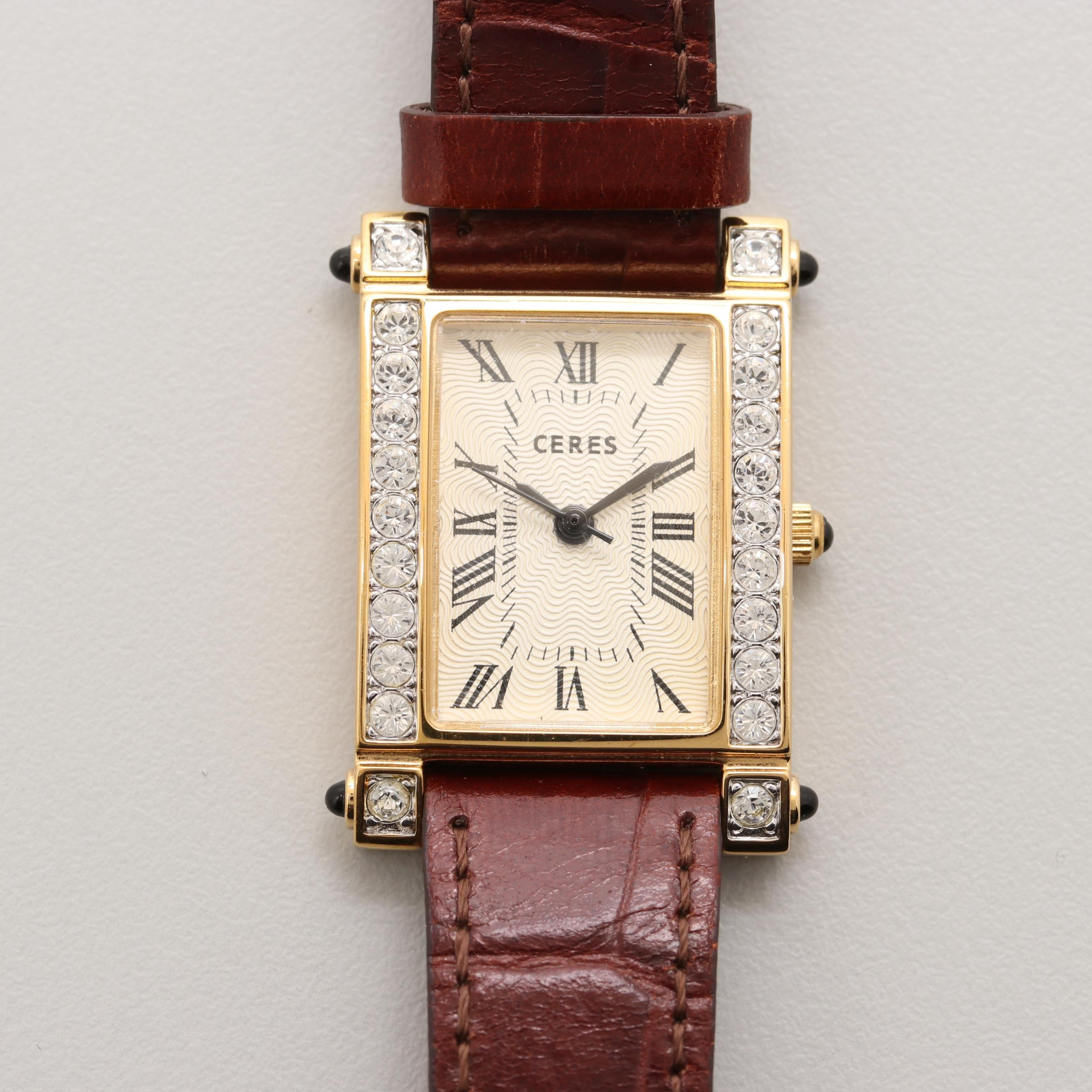 Ceres Gold Tone Quartz Wristwatch
