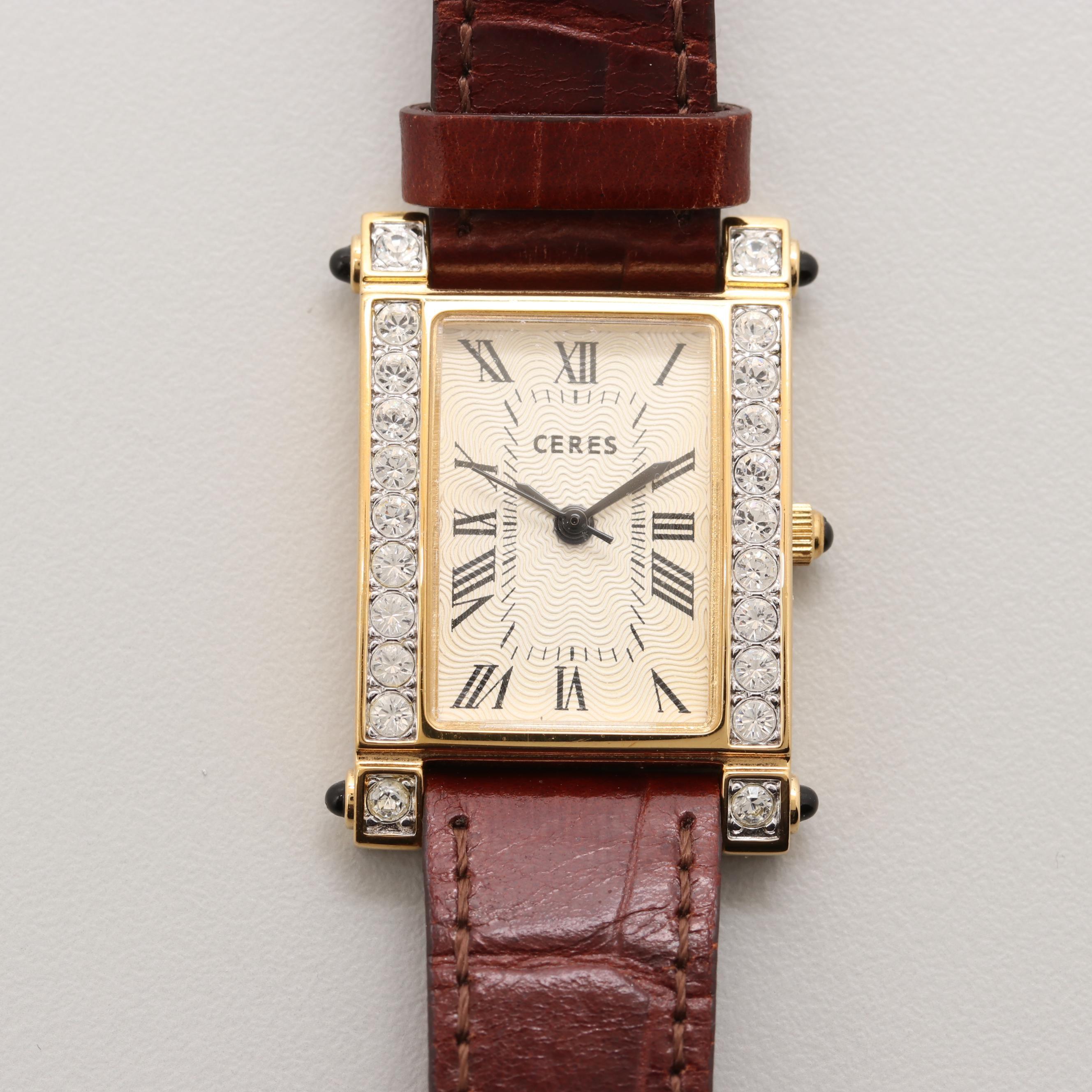 Ceres Gold Tone Quartz Wristwatch