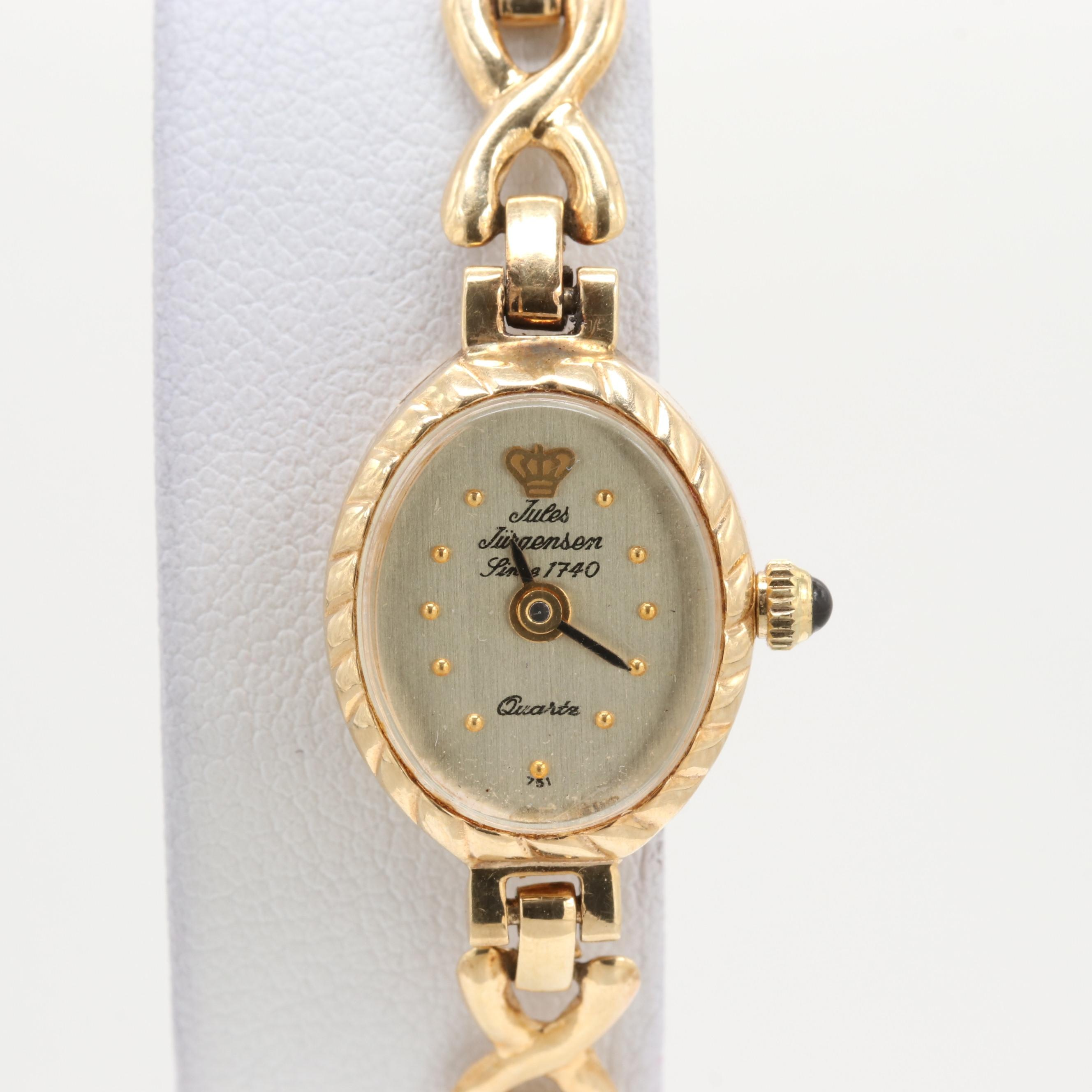 Jules Jurgensen 14K Yellow Gold Quartz Wristwatch